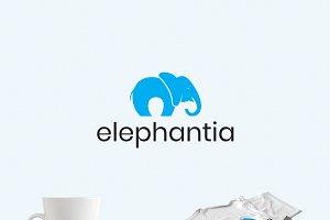 Happy Elephant Logo Template