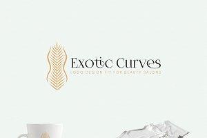 Exotic Curves - a Beauty Salon Logo
