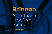 Brinnan - 50% Sale - Ends 04.12.18 by  in Sans Serif Fonts