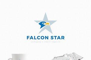 Falcon Star Logo Template