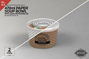 Paper Soup Cup Mockup