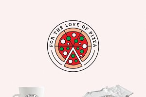 For the Love of Pizza Logo Template