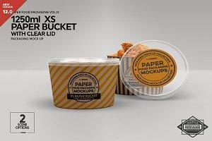 XS Paper Bucket  w/ Clear Lid Mockup
