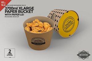 XL Paper Bucket Paper Lid Mockup