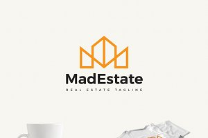Mad Estate a Real Estate Logo
