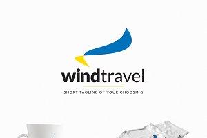 Wind Travel - a Travel Agency Logo