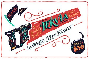 50% OFF Tervia Font Family