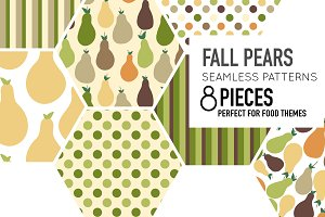 Fall Pears-8 Pattern Piece Set