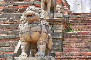 Bhaktapur streets and temples in his