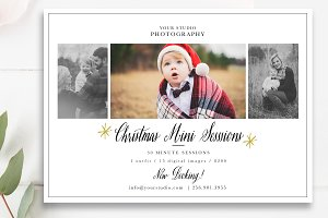 Christmas Mini Sessions Template