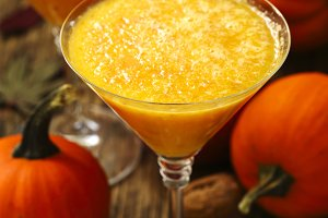 Pumpkin alcohol cocktail