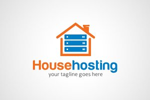 House Hosting Logo Design