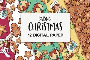 Christmas Baking Designer Paper set