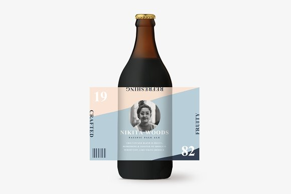 nikita beer bottle label template presentation templates