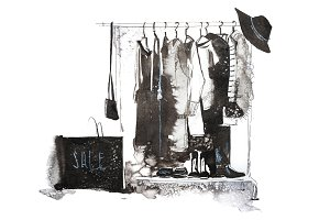 Clothes store. Shop with new