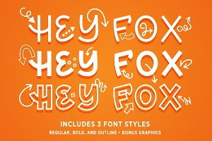 Hey Fox Font Trio + BONUS