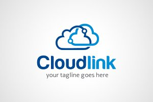 Cloud Link Share Logo Design