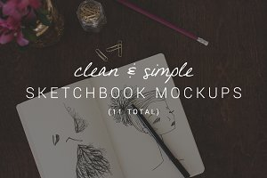 11 Clean & Simple Sketchbook Mockups