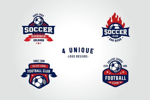 Sports logos soccer football edition logo templates creative market maxwellsz