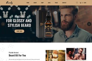 Bardy - Beard Oil eCommerce Template