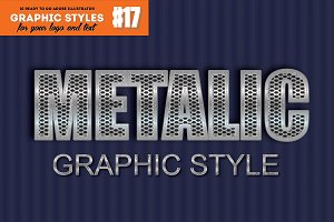 10 Metalic Chrome Graphic Style