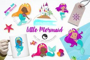 little Mermaid illustration pack