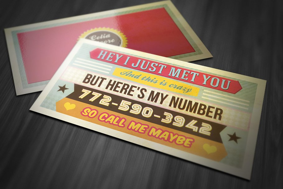 Funny retro business card business card templates creative previous accmission Choice Image