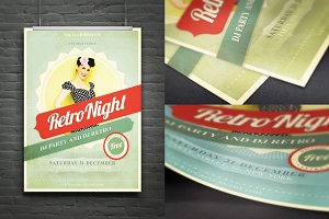 Retro Night Flyer/Poster/Ad