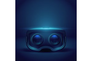 Stereoscopic 3d VR headset