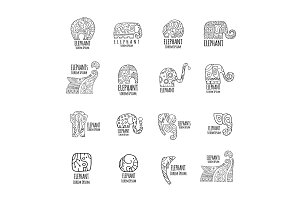 Elephant logo collection for your
