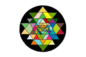 Sacred geometry and alchemy symbol