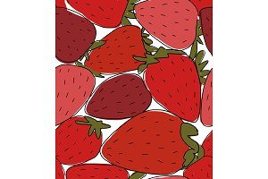 Portion of strawberries, sketch for