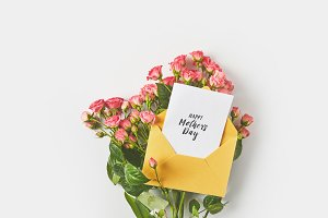 happy mothers day greeting card in e