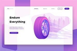 Autoparts Tire-Banner & Landing Page