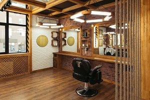 stylish interior in empty modern pro