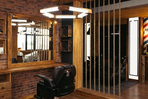 modern interior in empty stylish pro