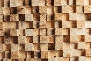 light brown wooden cubes trendy back