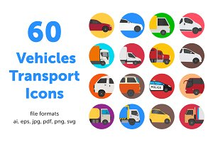 60 Vehicles Transport icons