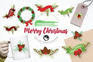 Merry Christmas illustration pack