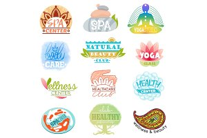 Spa logo vector beauty spa-center