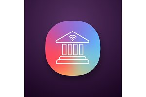 Online banking app icon