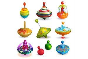 Top toy vector kids whirligig
