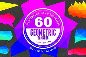 60 Geometric Banners