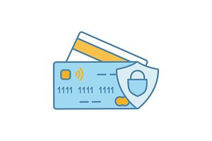 NFC credit card color icon