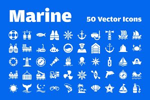 50 Marine Vector Icons