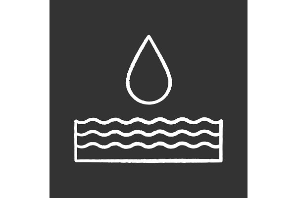 Water energy chalk icon