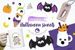 Halloween sweets illustration pack
