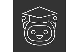 Machine learning chalk icon