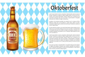 Oktoberfest Poster Beer Bottle and