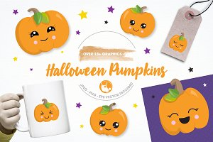 Halloween pumpkin illustration pack